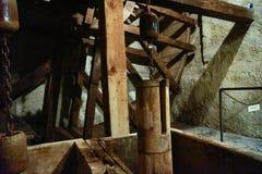 Máquinas industriales antiguas de la industria de la mina fotos de archivo