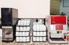 Máquinas para hacer bebidas calientes Fotos de archivo
