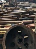 Máquinas & peças de metal soviéticas velhas Foto de Stock Royalty Free