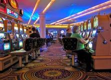 Máquinas tragaperras del casino, Las Vegas Imágenes de archivo libres de regalías