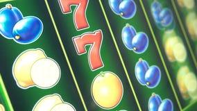 Máquinas tragaperras en el casino 4k metrajes