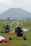 Máquinas vacías del paragliding imagen de archivo libre de regalías