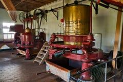 Máquina velha na fábrica do chá foto de stock royalty free