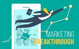 Márketing Breakthroug stock de ilustración