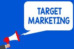 Márketing de blanco del texto de la escritura de la palabra Concepto del negocio para los clientes elegidos meta de los clientes  stock de ilustración