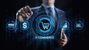 Márketing de Digitaces del comercio electrónico y concepto en línea de la tecnología del negocio de las ventas que hacen compras imagenes de archivo