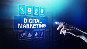 Márketing de Digitaces, publicidad online, SEO, SEM, SMM Concepto del negocio y de Internet fotografía de archivo