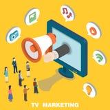 Márketing de la TV stock de ilustración