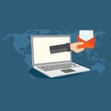 Márketing del email Imagen de archivo libre de regalías