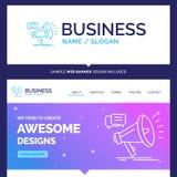 Márketing hermoso de la marca del concepto del negocio, megáfono, anno libre illustration