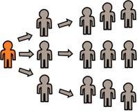 Márketing llano multi de la representación gráfica libre illustration
