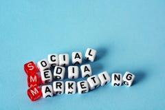 Márketing social de SMM medios Imagen de archivo