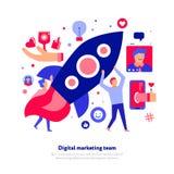 Márketing Team Illustration de Digitaces libre illustration