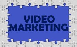 Márketing video con la frontera del rompecabezas Fotografía de archivo