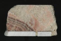 Mármol de alta calidad Aislado en fondo negro modelo de mármol pulido corte natural de la piedra Fotos de archivo