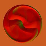 Mármol de cristal rojo abstracto Fotografía de archivo