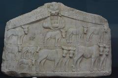 Mármol del alivio del período romano Fotos de archivo