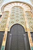 mármol histórico en el estilo antiguo de Marruecos de la puerta del edificio ilustración del vector