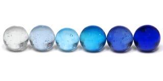 Mármoles azules Foto de archivo
