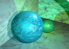 Mármore Globes-3d Fotos de Stock