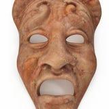 Mármore vermelho ajustado máscaras do teatro no branco ilustração 3D Imagens de Stock Royalty Free