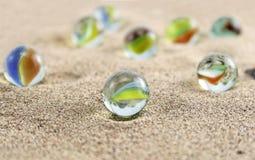 Mármores de vidro Imagem de Stock