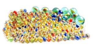 Mármores de vidro imagens de stock
