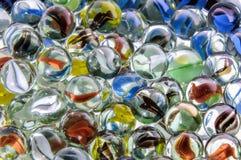 Mármores de vidro coloridos Imagens de Stock