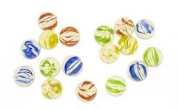 Mármores de vidro coloridos Imagens de Stock Royalty Free