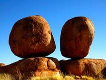 Mármores dos diabos, Território do Norte, Austrália Fotografia de Stock