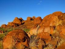 Mármores dos diabos, Território do Norte, Austrália Foto de Stock