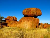 Mármores dos diabos, Território do Norte, Austrália Fotografia de Stock Royalty Free