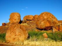 Mármores dos diabos, Território do Norte, Austrália Foto de Stock Royalty Free
