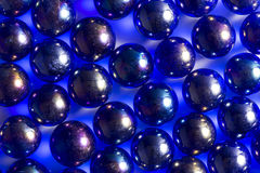 Mármores metálicos azuis fotos de stock