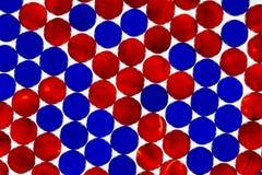 Mármores vermelhos & azuis foto de stock