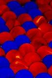 Mármores vermelhos & azuis foto de stock royalty free