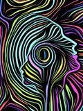 Más allá de líneas internas ilustración del vector