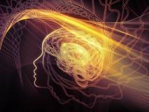 Más allá de la mente ilustración del vector