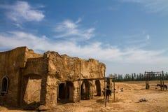 Más allá del paisaje de la Gran Muralla Fotografía de archivo
