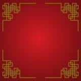 Más amplio chino del oro Foto de archivo libre de regalías