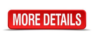 más detalla el botón rojo del cuadrado 3d Fotografía de archivo libre de regalías