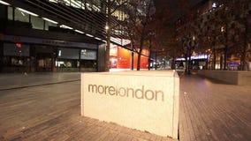 Más orilla de Londres por noche metrajes