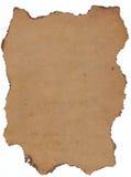 Más papier viejo con los bordes quemados. Fotografía de archivo