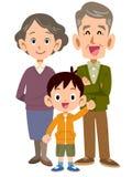 Más viejos pares y nietos libre illustration