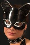 Máscara 1 del juego del gato fotografía de archivo