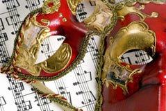 Máscara 3 de la música Fotografía de archivo libre de regalías