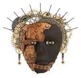 Máscara africana Collage del metal Foto de archivo libre de regalías