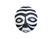 Máscara africana congregada blanco y negro fotos de archivo