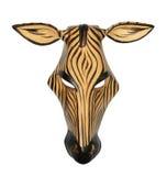 Máscara africana de la cebra Fotos de archivo libres de regalías