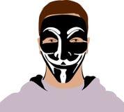 Máscara anónima Fotografía de archivo